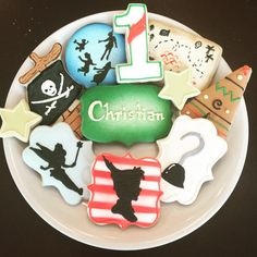 Peter Pan Cookies / One Dozen by ShopCookieCouture on Etsy