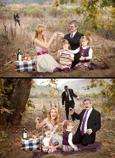 """Zombie Attack Family Christmas Photo, Family Christmas Photos, Awkward Family Photos, Family Photo Ideas, Zombies, Eva Franco Dress - Full """"story"""" on website."""
