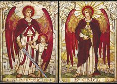 Archangels Raphael and Uriel, by James Powell
