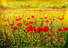 POPPIES HORIZON  € 137.34 Sizes:  60x90   #handmade   #pop #popart #vintage #tribal #orientalstyle  #abstract #trends #view #landscape #landscapes  #picture #painting #panel #canvas #oilcolors #oilpaint #art #artist #retrospective