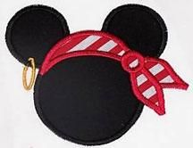 Pirate Ears Applique Embroidery Design | Apex Embroidery Designs, Monogram Fonts & Alphabets