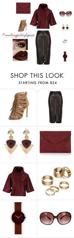 """#ootd TGIF Office to Happy Hour"" by anais-estevez-zamora on Polyvore featuring River Island, White House Black Market, Rebecca Minkoff, STELLA McCARTNEY, Apt. 9, Nava and Oliver Peoples"