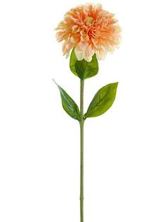 Dahlia Silk Flower in Peach Cream - 29in. Tall