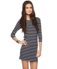 Comfy cute dresses with 3/4 sleeves make me happy :) Go sailor at $9.80