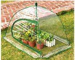 """GreenThumb Pop-Up Greenhouse by Educational Insights. $35.00. Watch your plants grow, no matter what time of year, with this full-size, weather-resistant pop-up greenhouse. Sets up in no time. Clear plastic greenhouse """" pops up"""" like an umbrella. Stakes in the center and at four corners keep the greenhouse in place while it protects precious plants from pets, pests, and the elements. Zippered opening allows easy access for young gardeners. Opens to 31H x 41W x 30 D in..."""