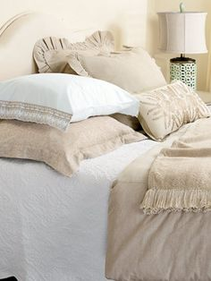 Natural Linen Bedding Collection - Country Curtains®