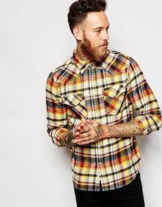 Lee Shirt Slim Fit Western Varied Check