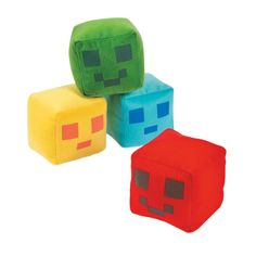 Love these Plush Pixel Pals from OrientalTrading.com ! Great for tossing in groups for games, ice breakers, or discussions.