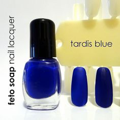 Tardis Blue Dr. Who Amy Pond Nail Polish on Etsy, $6.00. WANT!!