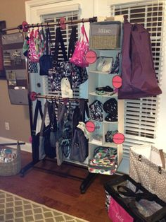 My favorite, easiest party set-up- Boutique type shopping in the home! www.mythirtyone.com/tworustichearts
