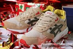 Men's Asics Gel Christmas Pack-Gel Saga Jogging Shoes Rudolph H30NK|only US$95.00 - follow me to pick up couopons.