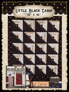 LITTLE BLACK CABIN Quilt Kit by myreddoordesigns on Etsy, $48.50