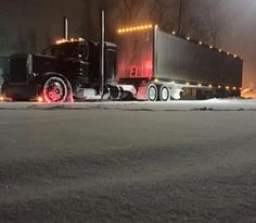 Black Pete in the snow - US Trailer would love to lease used trailers in any condition to or from you. Contact USTrailer and let us lease your trailer. Click to http://USTrailer.com or Call 816-795-8484