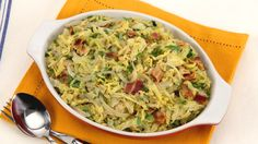 Braised Cabbage with Bacon and Onions - Recipes - Best Recipes Ever - Savoy cabbage, which is more delicate and mellow than its green cousin, makes a fabulous side dish. Onion Recipes, Cabbage Recipes, Vegetable Recipes, Real Food Recipes, Cooking Recipes, Healthy Recipes, Paleo Ideas, Yummy Food, Side Recipes