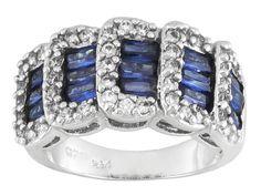 Bella Luce (R) Esotica (Tm) 4.04ctw Tanzanite & White Diamond Simulants Rhodium Over Silver Ring