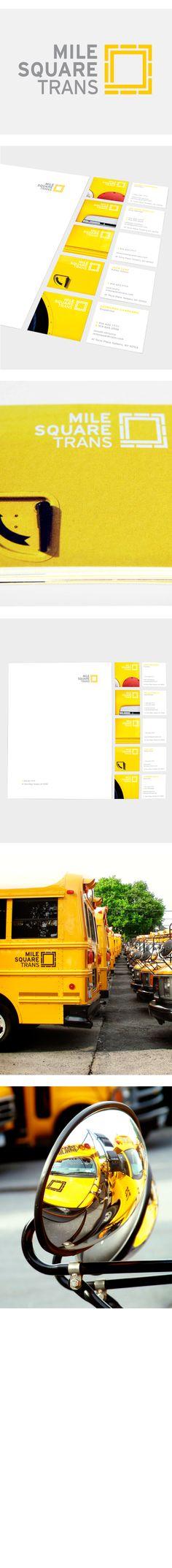 Mile Square by Juan Carlos Pagan, via Behance Corporate Identity Design, Brand Identity Design, Graphic Design Branding, Visual Identity, Logo Branding, Logos, Logo Design, Construction Branding, Square Logo