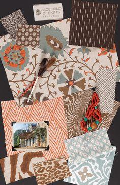 Lacefield Designs Tangerine #textile #moodboard www.lacefielddesigns.com  #ikat…