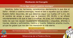 """MISIONEROS DE LA PALABRA DIVINA: MEDITACIÓN DEL EVANGELIO - """"Yo os digo: amad a vue..."""