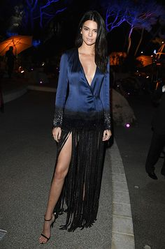 Kendall Jenner wearing MINNY at the 2016 Cannes Film Festival