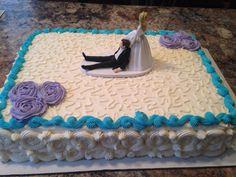 Wedding sheet cake made by SweetEms Cakery.