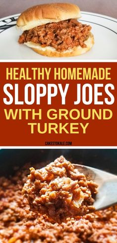 Easy Healthy Sloppy Joes with Ground Turkey. This homemade sloppy joe recipe is the perfect family dinner. Ground turkey Sloppy Joes are healthy and always a hit. Delicious and healthy turkey sloppy joes with ground turkey your whole family will enjoy. Healthy Sloppy Joe Recipe, Homemade Sloppy Joe Recipe, Healthy Sloppy Joes, Healthy Turkey Recipes, Healthy Ground Turkey, Homemade Sloppy Joes, Ground Turkey Recipes, Sloppy Joe Recipe Pioneer Woman, Health Recipes