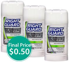 Right Guard Printable Coupon: $0.50 Deodorant at Walgreens!