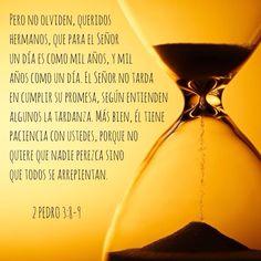 2 Pedro 3:8-9 #Patience   #OneLikeAThousand #AThousandLikeOne No te apresures! No te adelantes! Que nadie perezca! Que todos se arrepientan! #misericordia