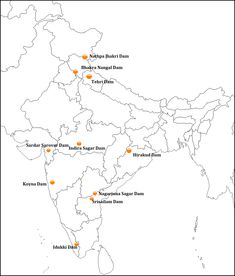 Reservoirs and Major Dams of India Map Worksheets, Hydroelectric Power, Geography Map, India Map, Mathematics, Biology, Knowledge, Product Launch, Education
