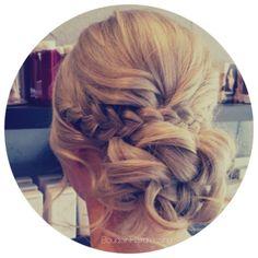 | Braid | wedding hair | braided hairstyle | low bun | relaxed hair up | soft waves | blonde hair | boho bride | boho wedding | boudoir hairdressing | Www.facebook.com/officialboudoir
