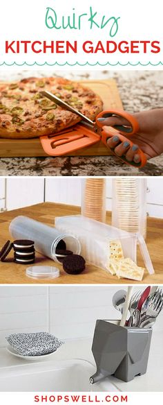 Quirky kitchen gadgets to enhance your cooking experience and liven up your kitchen decor.