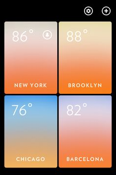 navigation onSolar (Using gradients to express temperature)