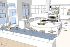 Help Design the Sunset Dream Kitchen of the West: Sneak Peek at the Floor Plans Kitchen Floor Plans, Open Plan Kitchen, Kitchen Flooring, Kitchen Ideas, House Property, Mansions Homes, Kitchen Remodel, Kitchen Design, House Plans