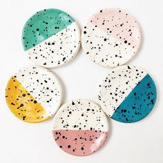 Splatter ring dishes by Quiet Clementine / available on quietclementine.com