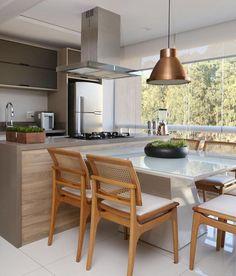 Cozinha integrada para receber os amigos em grande estilo! Por Mikaelian Freitas . . . Acompanhem nossos projetos no @depaulaenobrega