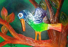 Trabajos de arte Relieve pintado con acrilico