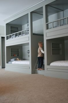 bunk bed room- so cool!only if it was pink and was for girls