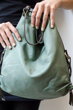 Our iconic AD mint. Mint, Clutch, Bucket Bag, Metallic, Bags, Fashion, Baby Steps, Handbags, Moda