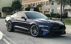 Click this image to show the full-size version. 2018 Mustang Gt, Blue Mustang, S550 Mustang, New Mustang, Mustang Cobra, Ford Shelby, Ford Mustang Shelby, Ford Mustangs, New Sports Cars