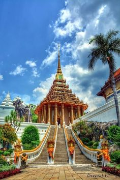 Wat Phra Phutthabat in Saraburi, Thailand