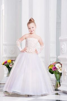 Ivory Flower Girl Dress Tulle Dress Girls por MiaBambinaBoutique