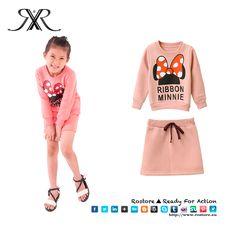 Conjunto Minnie  Cor Rosa Tamanhos: 3 - 9 anos Preço: 15,20€ Por Encomenda http://www.rostore.eu/pt/189-conjunto-minnie.html