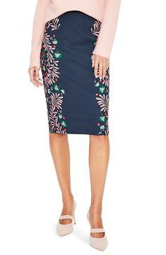 Women's Boden Richmond Stretch Cotton Pencil Skirt, Size 16 (similar to - Blue Work Fashion, Fashion Ideas, Cotton Skirt, Printed Skirts, Leggings Are Not Pants, Nordstrom, Dresses For Work, Stylish