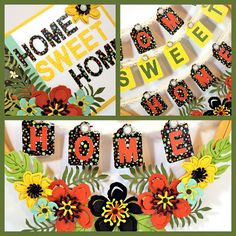 Stampin' Up! Botanical Blooms Bundle Wreath - Craft Project Central - Create With Christy: My CPC Home Sweet Home Wreath & Card and Blog Candy!