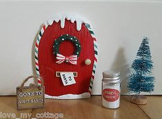 Little Christmas Elf Door and Accessories Gift Box Decoration Fairy Santa Snow