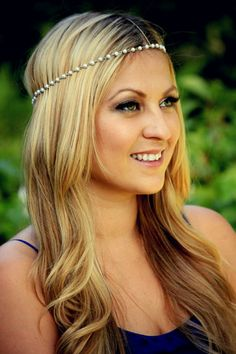 CHAIN HEADPIECE pearl and gold chain headdress head by LovMely, $35.00