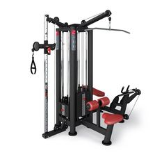 This 4 stack multi gym is a multifunctional, multistation. Lat Machine bar, multi-exercise bar, triceps pressdown bar and complete handle included.