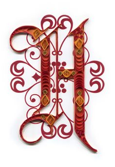 Quilled H Monogram by all things paper, via Flickr.              ~ EXQUISITE❗️⭐️⚠️⭐️❗️➕ ‼️‼️‼️➕‼️