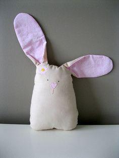 Fiona a sweet soft plush bunny nursery toy. $12.00, via Etsy.