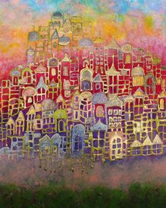 Skyline View III - Painting,  16x20 in ©2013 by Tracy Oliver -  Painting, Other