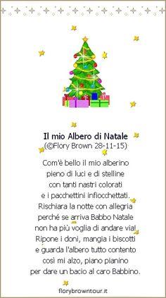 Condividi dalla bacheca 'Filastrocche - Poesie per bambini'. Immagine della poesia per bambini sull'Albero di Natale da condividere o stampare. Nell'home page del sito sarà presente durante tutte le feste e con immagini animate.
